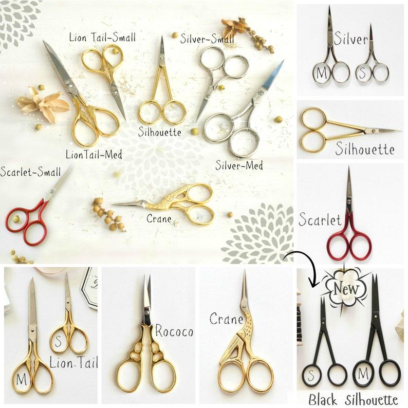 Crane Small Scissors Gold Scissors Cutting Tools Rococo Gold Scissors Small Scissors- Gold Small Shears Embroidery Scissors