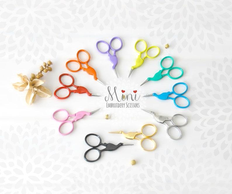 Embroidery Scissors  Colorful Mini Scissors  Shears  Mini image 0