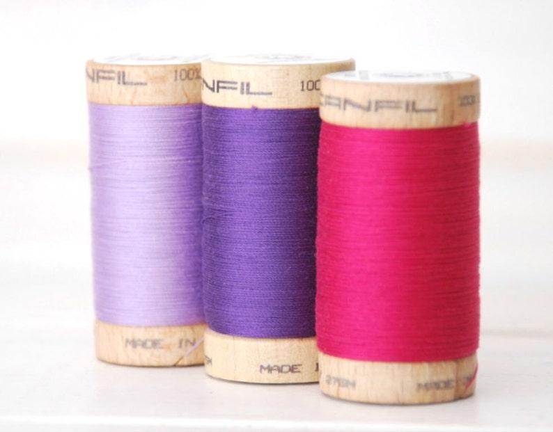 4828 300 Yards Wooden Spool Thread Color Rust 100/% Organic Cotton Thread Organic Cotton Thread GOTS Eco Friendly Thread No