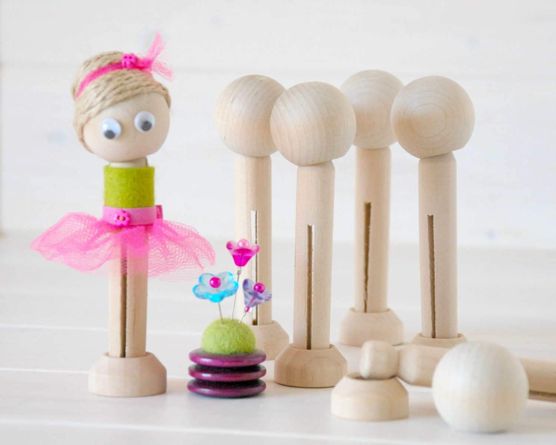 Diy Clothespin Doll 10 Wooden Dolls Wooden Clothespins Dolls Diy