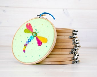 "7"" & 8"" Round Edge Wooden Embroidery Hoop - Smooth Edge Embroidery Hoops - Wooden Embroidery Hoops - 1 of each size - Wall Art Hoops - Hoops"