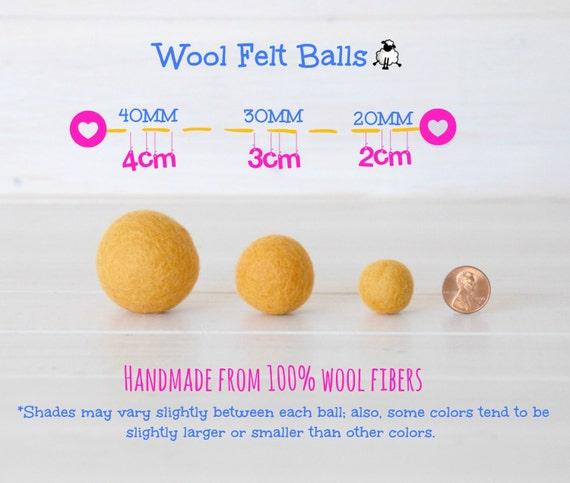 Wool Felt Balls Size Approx. 2CM 18 20mm 25 Felt | Etsy