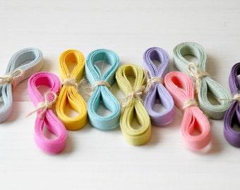 """20 Yards Bundle - Eco Friendly Cotton Ribbons Bundle """"Sampler Bundle"""" - 20 Yards - 100% Cotton Ribbons - 1/4"""" wide  - 1 Yard Each color"""