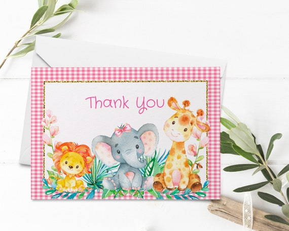 Farm Animals Instant Download Thank You Cards Printable Folded Cards Printables Boy Baby Shower