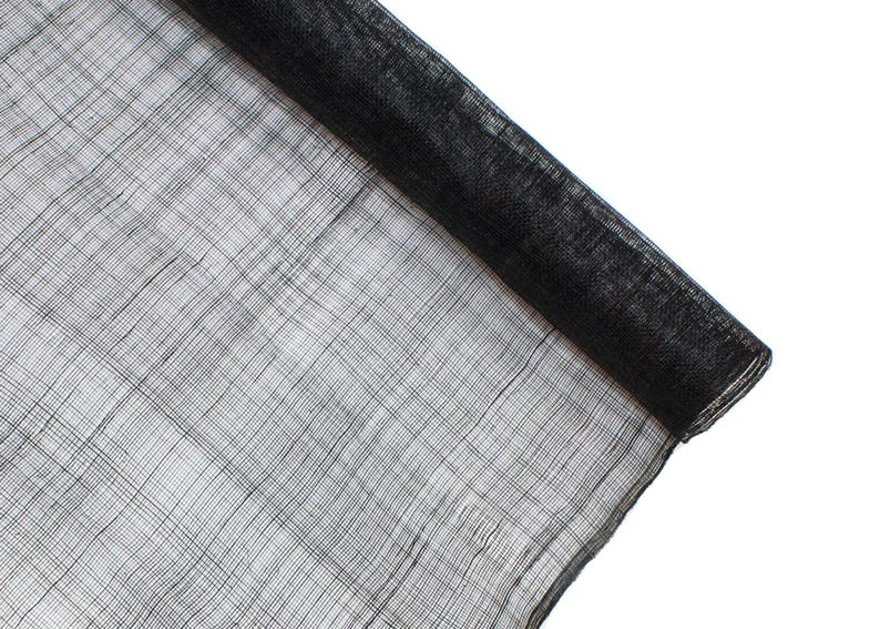 Stiffened Sinamay Millinery Fabric 1 Meter x 90cm Black Sold by the Meter