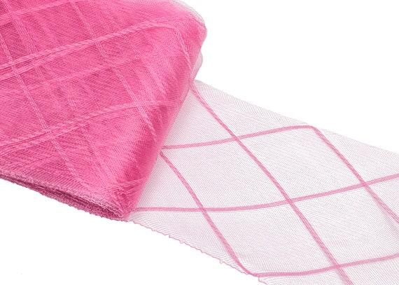 """10 cm Crinoline Trim Coral Pink Horsehair Braid 3 yards Piece  4/"""""""