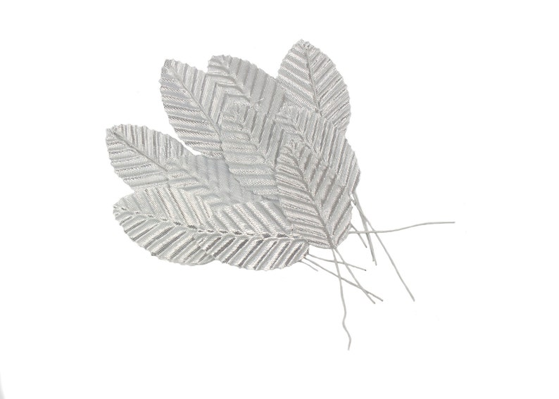 Silver Leaves for Artificial Flower Making /& Millinery 20 Pieces