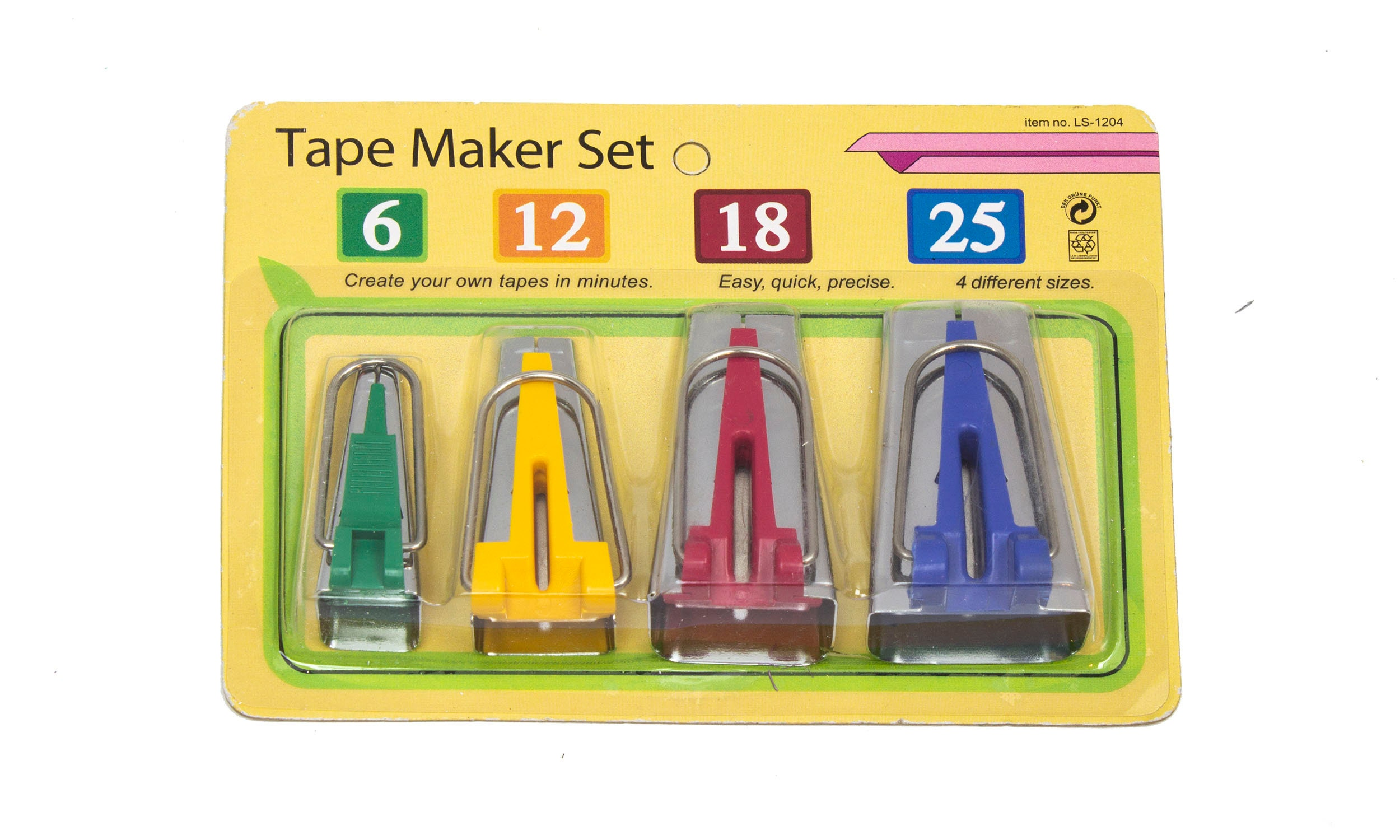 4pcs Quilting Sewing Set Size 6 12 18 25mm Fabric Bias Tape Maker Binding Tool