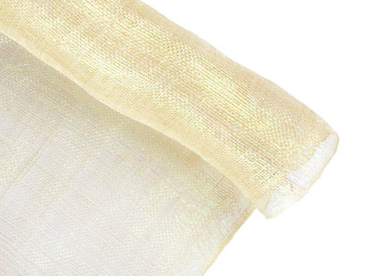 Metallic Gold 1 Meter x 90cm Stiffened Sinamay Millinery Fabric