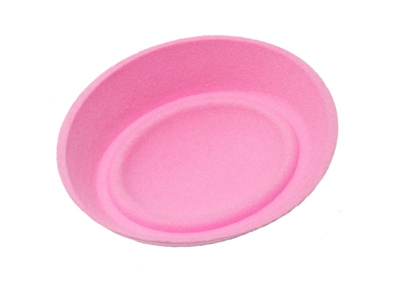 Oval Pillbox Stewardess Fascinator Hat Base 6 12 x 5 12 Light Pink