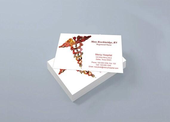 Custom business cards for nurse or doctor flower etsy image 0 colourmoves