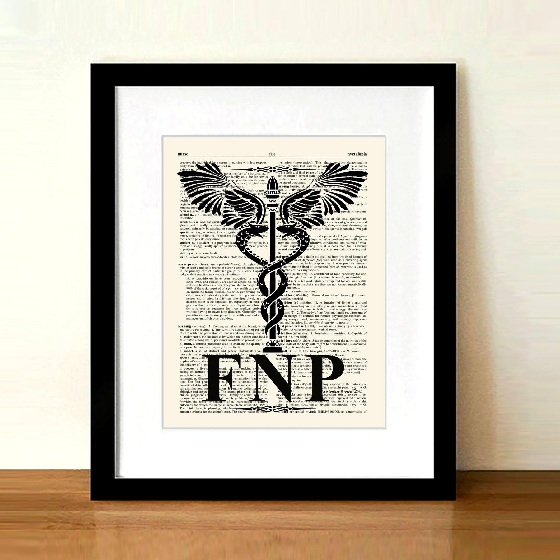 Nurse Gift Vintage Family Nurse Practitioner Fnp Etsy