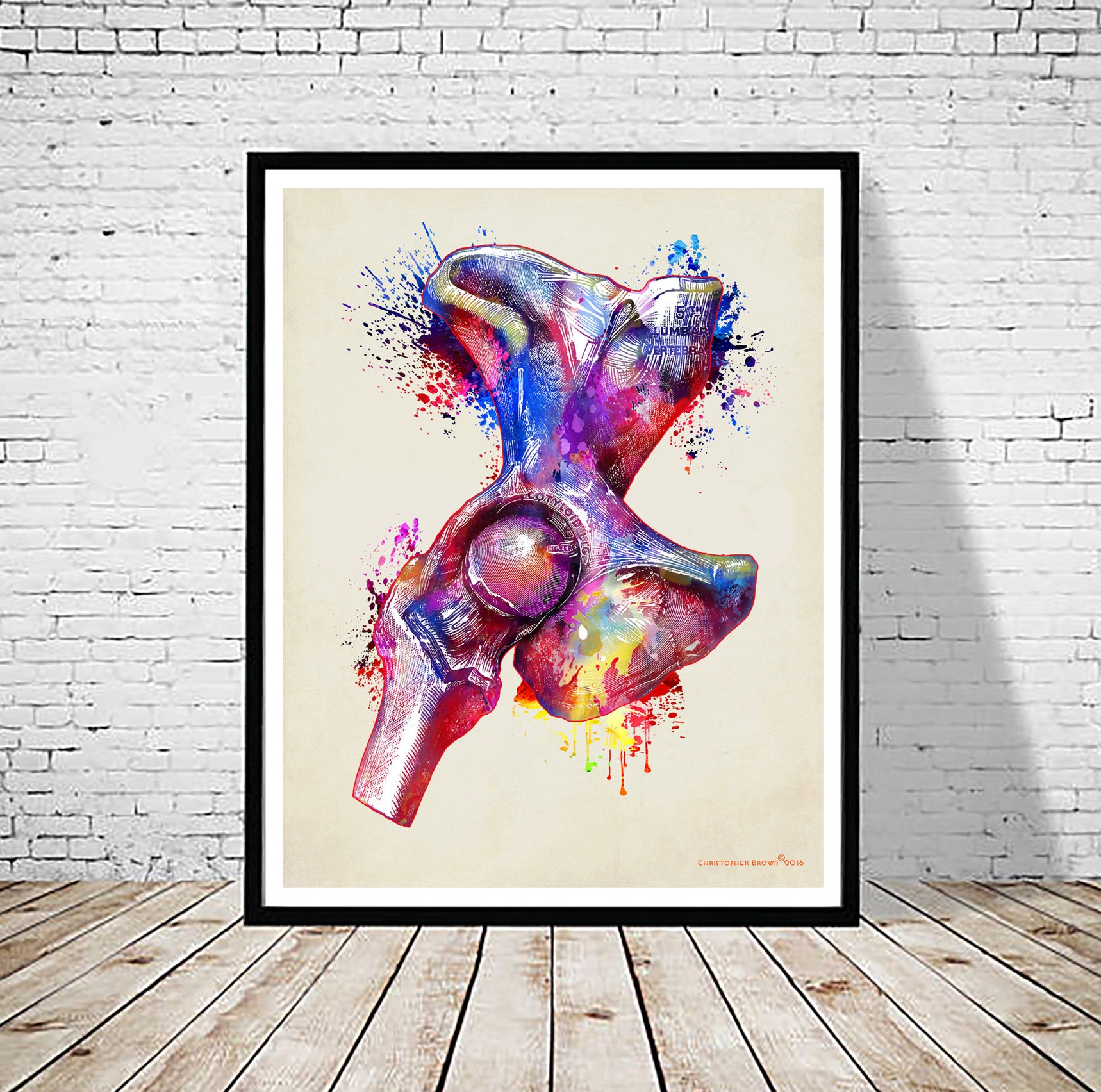 Human Anatomy Watercolor Hip Joint 11 X Etsy