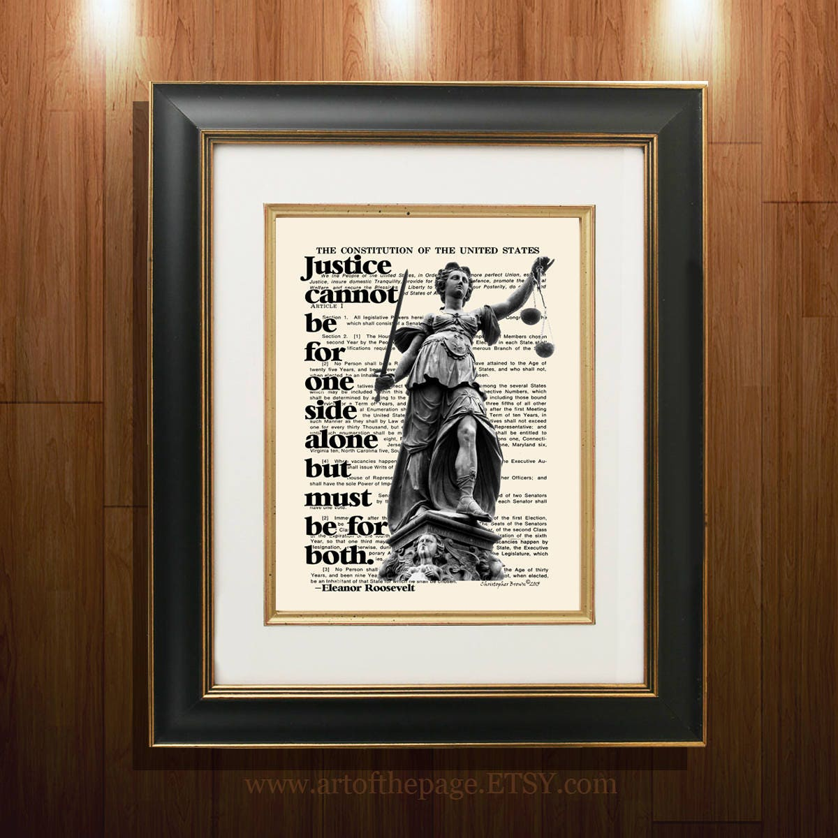 Lawyer Print Lady Justice With Quote By Eleanor Etsy