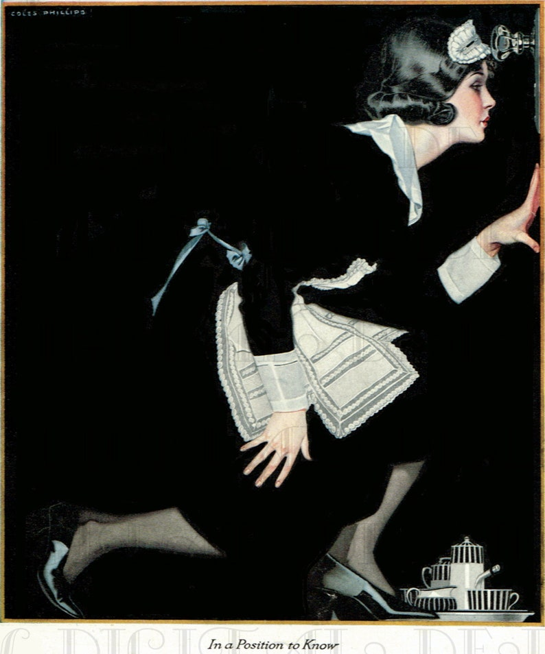 In a Position to KNOW! Coles Phillips  VINTAGE Art Deco Digital Fashion  ILLUSTRATION  Digital Download  Coles Phillips Vintage Print
