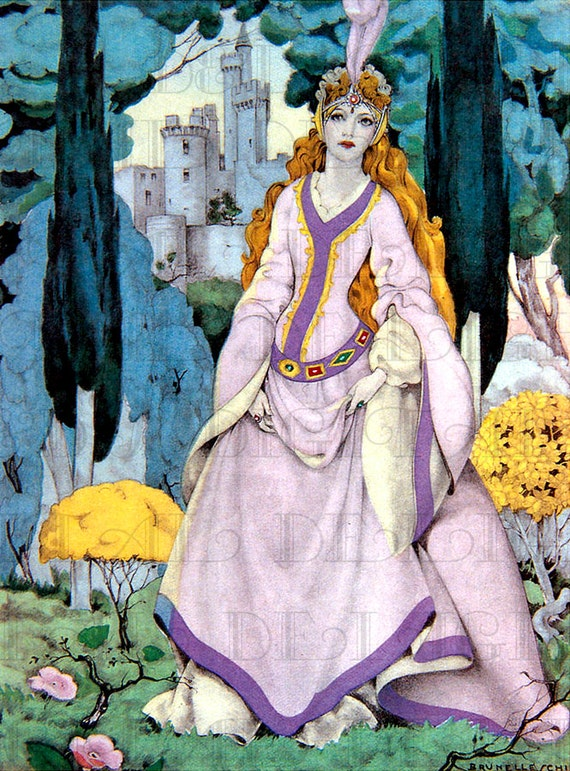 Rare Pretty Princess In Light Purple Fairy Tale Vintage
