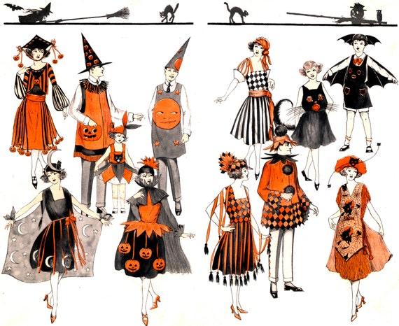 SUPERB! Rare! Art Deco HALLOWEEN Costumes! Vintage Digital Halloween  Download. Scanned From Original 1920s BOGIE Book! 2 Pages!