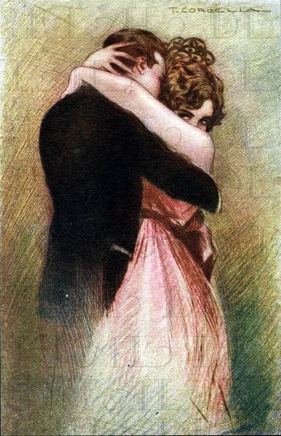 romantische umarmung zeichnung