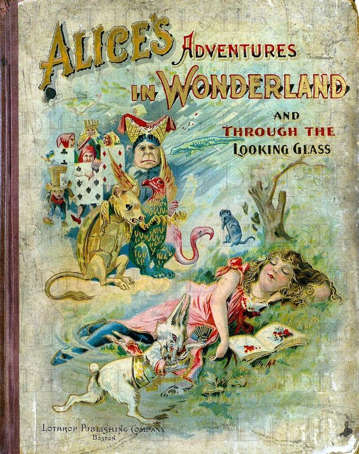 Antique VICTORIAN ALiCe in WoNDerlAnd BoOk CoVeR. Vintage ...