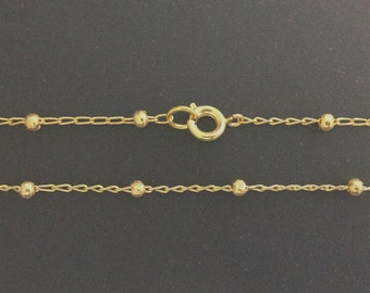 Gold Filled long Satellite Finished Chain 32 34 36Inch - gold long necklaces satellite chain - Simple gold Necklace - Dainty Satellite Chain
