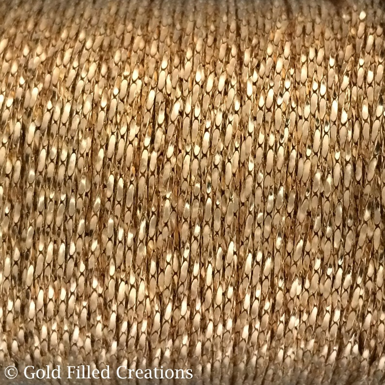 Gold Filled chain wholesale Beading chain 0.8mm Tiny and image 0