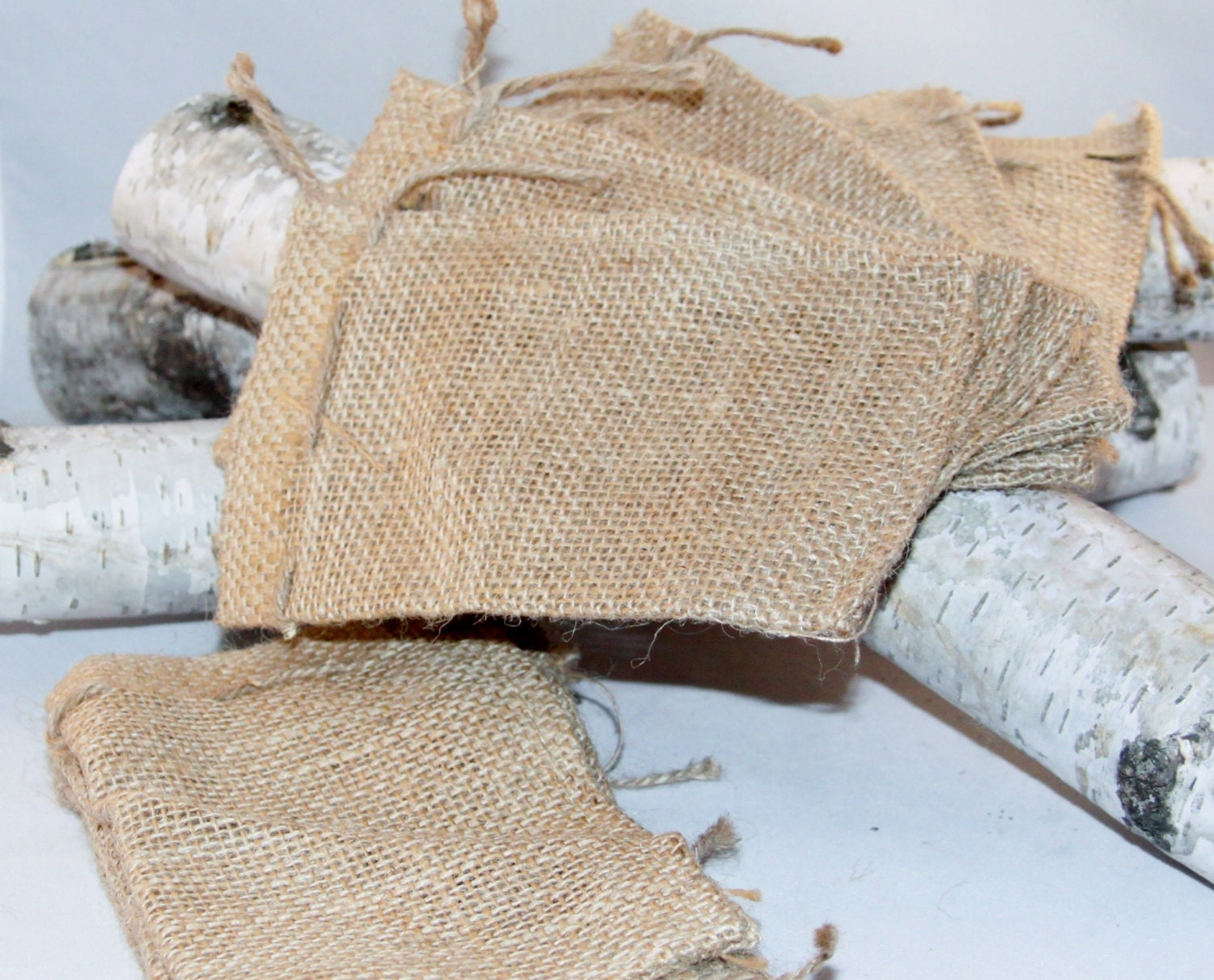 10 Burlap Gift Bags 6x10 For Party Favors With Drawstring Jute ...