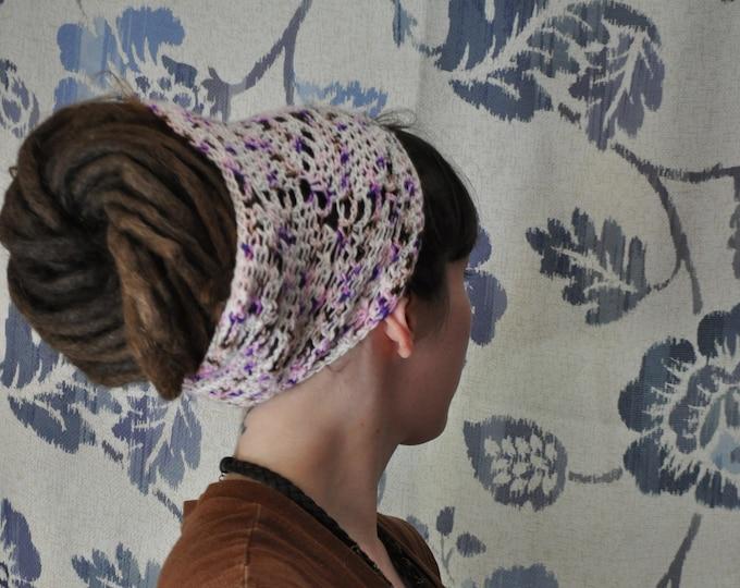 Merino Wool Crochet Dread Headband // Hairband for long hair