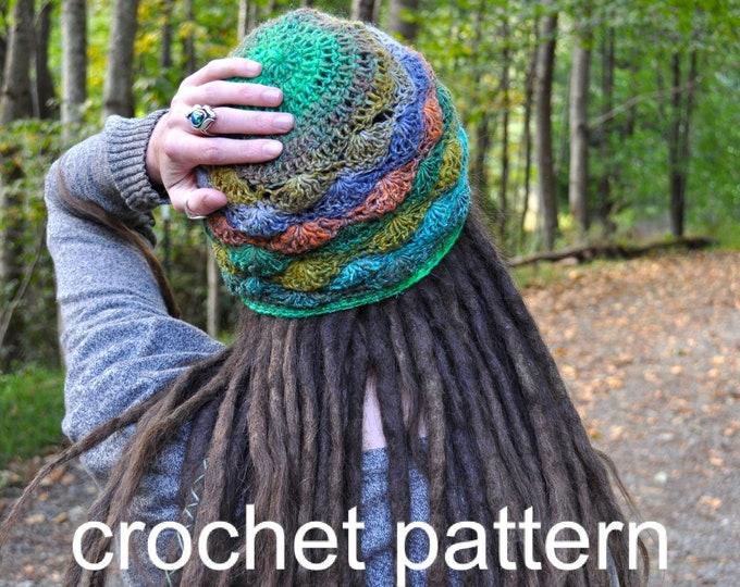 Crochet Pattern - Quick Easy Lacy Shell Hat for Women // Cobblestone Lace Cap