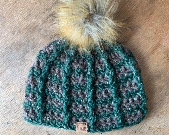 Bulky Ridgeline Crochet Hat #5