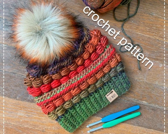Crochet Pattern - Block Party Hat // Adult Winter Crochet Beanie Hat // Quick Easy Textured Beanie