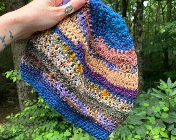 Scrappy Crochet Slouchy Hat #16 // Dreadlock Tam