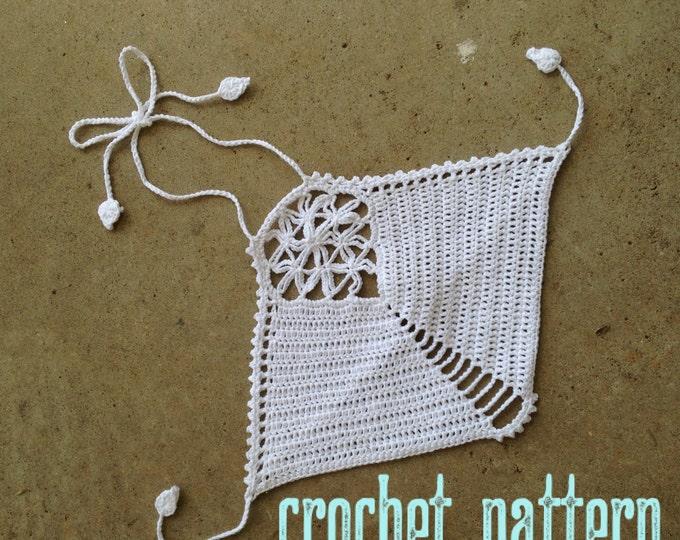 Crochet Pattern - Crop Top Halter Sacred Geometry FOL Mandala Festival Bralette Bikini // Flower of Life Crochet Crop Top PATTERN