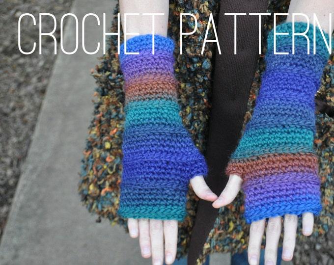 Crochet Pattern - Fingerless Armwarmers PATTERN