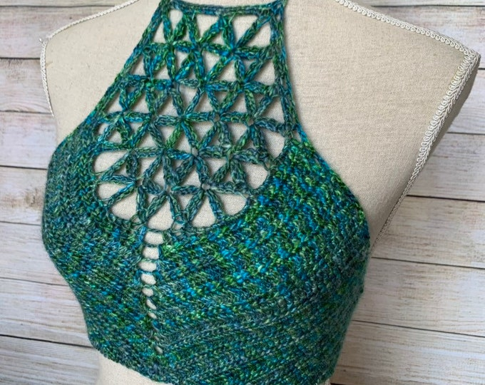 Flower of Life Crochet Crop Top