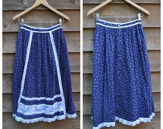 1970's Vintage GUNNE SAX Prairie Skirt - Gunnies by Jessica McClintock