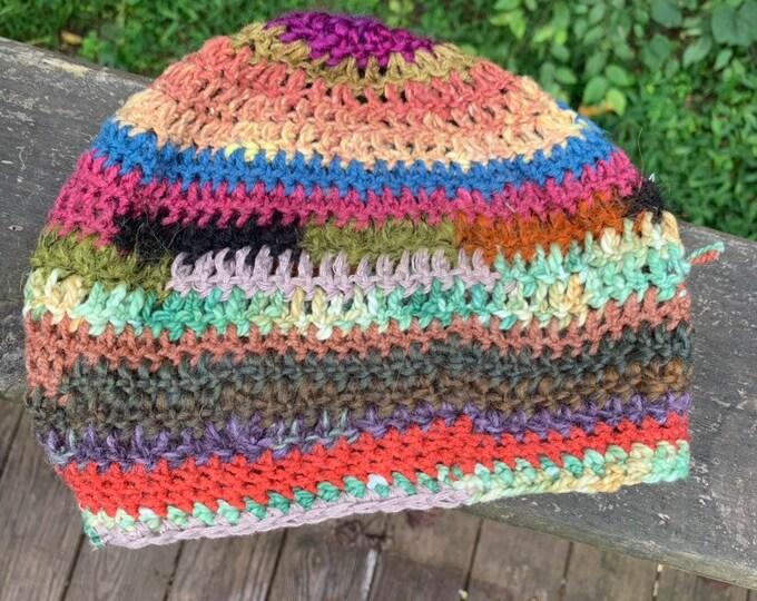Scrappy Crochet Slouchy Hat #15 // Dreadlock Tam
