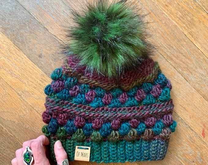 Crochet Pattern - Wobble Bobble Beanie // Easy Beginner Textured Winter Hat Unisex Adult Beanie