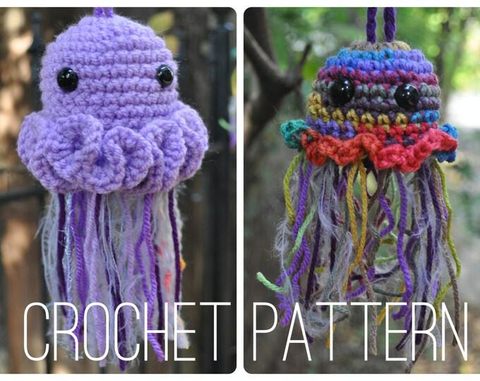 Crochet Pattern - Easy Amigurumi Bag //  Jellyfish Pouches