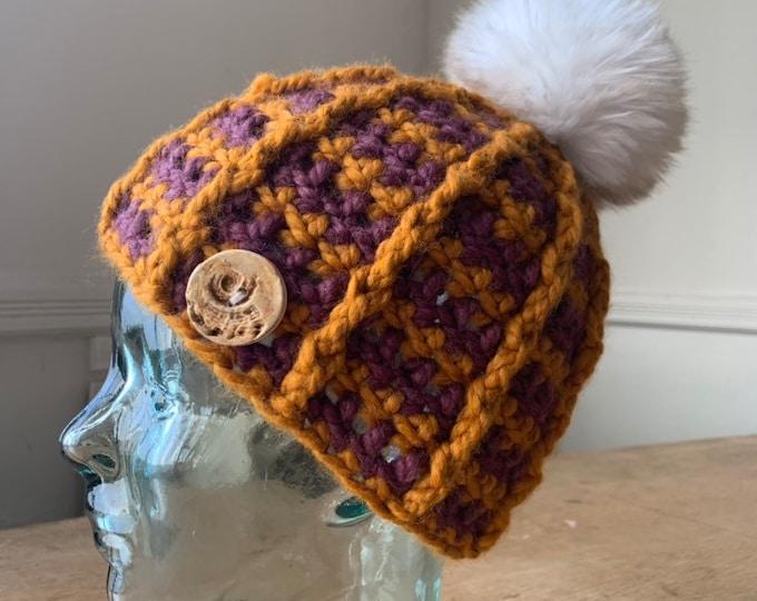 Bulky Ridgeline Crochet Hat #6