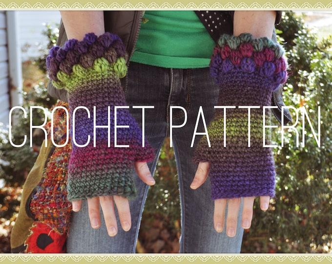 Crochet Pattern - Bobbly Fingerless Gloves