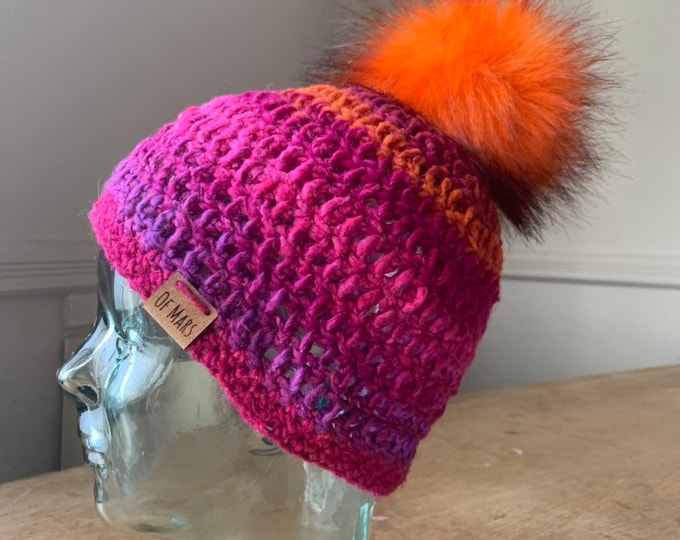 Silk Wool Blend Crochet Hat