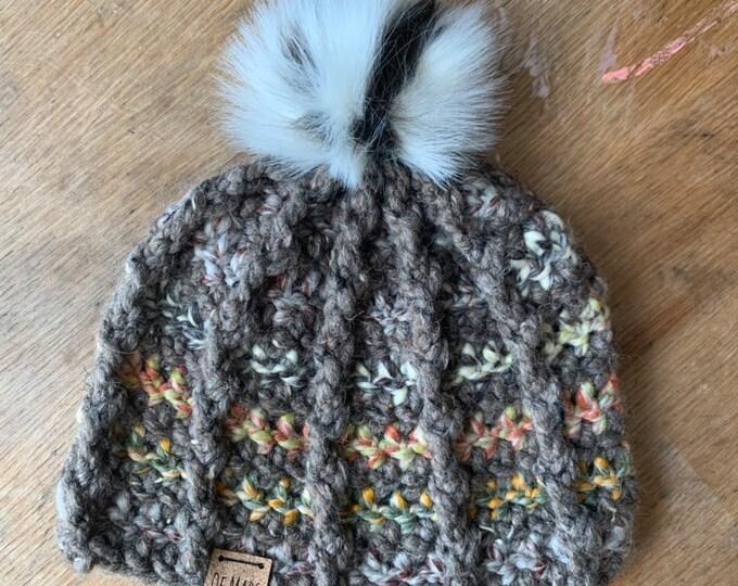 Bulky Ridgeline Crochet Hat #4