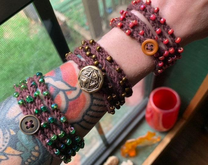Crochet Boho Wrap Bracelet