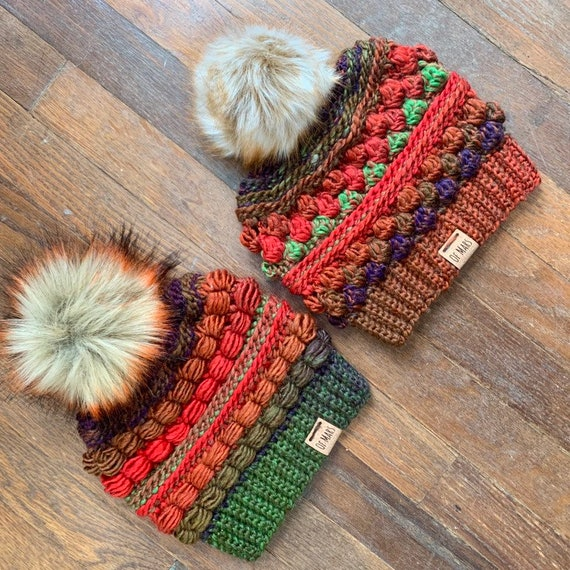 Crochet Pattern Pack - Wobble Bobble Beanie & Block Party Hat