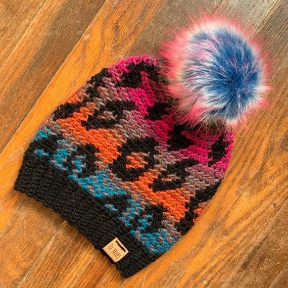 Ombre Leopard Print Hat