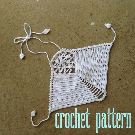 Crochet Pattern - Crop Top Halter Sacred Geometry FOL Mandala Festival Bralette Bikini // Flower of Life Crochet Crop Top PATTERN