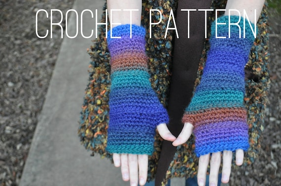 Crochet Pattern - Fingerless Armwarmers PATTERN