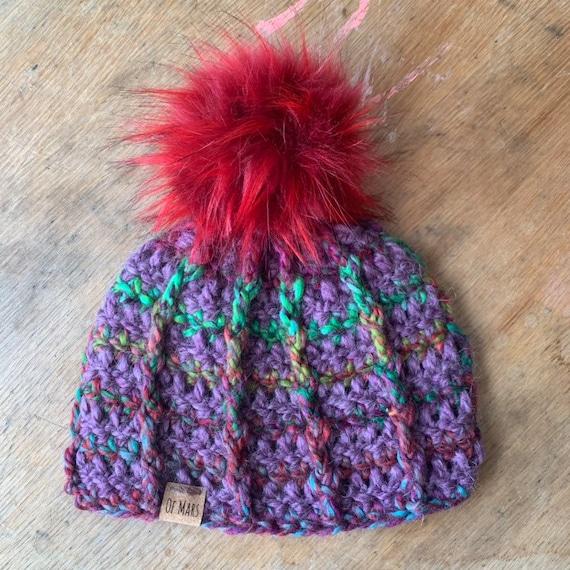 Bulky Ridgeline Crochet Hat #2