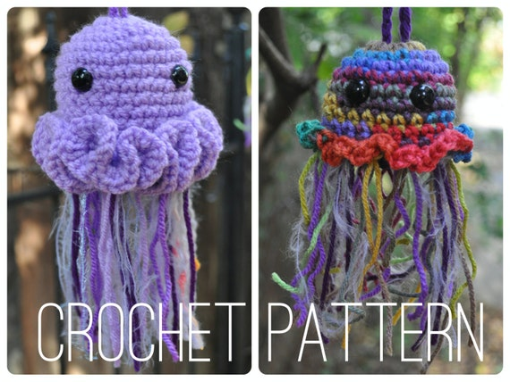 Crochet Pattern - Easy Amigurumi Bag //  Jellyfish Pouches