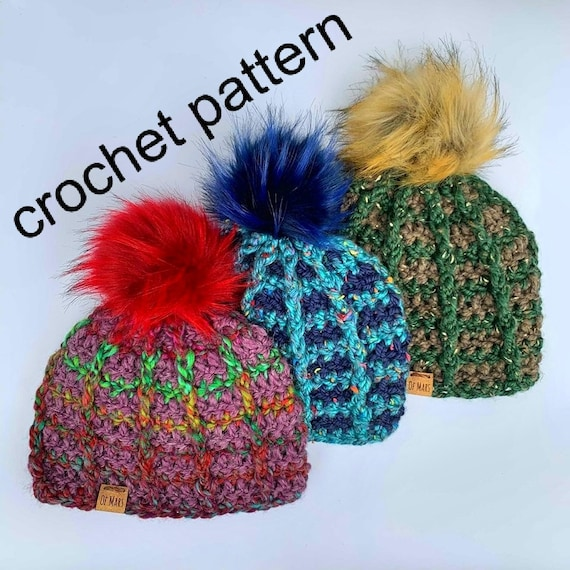 Crochet Pattern - Super Bulky Quick Easy Winter Unisex Hat // Ridgeline Chunky Beanie